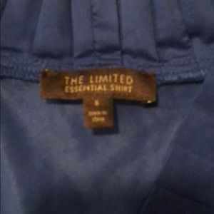 The Limited Tops - The Limited Blue Business Casual Top